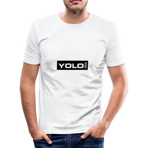 Yolo merch - Männer Slim Fit T-Shirt
