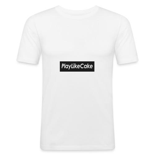 PlayLikeCake black box logo - Slim Fit T-skjorte for menn