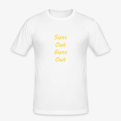 Suns Out Guns Out - Men's Slim Fit T-Shirt