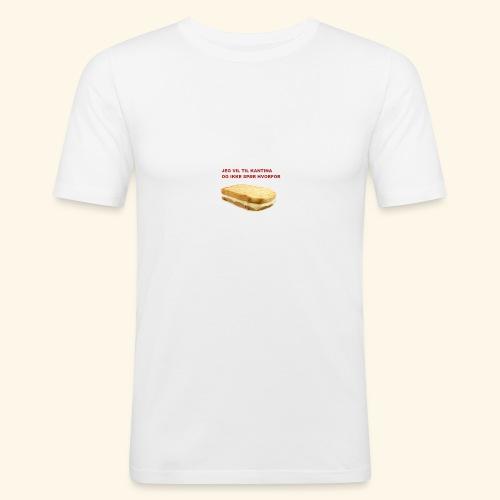 Jeg vil til kantina - Slim Fit T-skjorte for menn