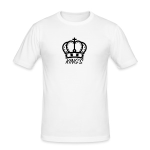 KINGS CROWN BIG LOGO - Men's Slim Fit T-Shirt