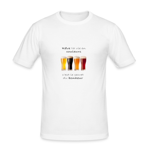Rêve ta vie en couleurs version réaliste - T-shirt près du corps Homme