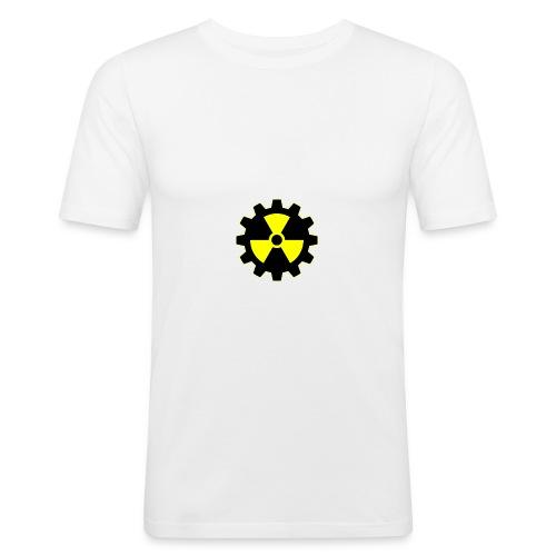 Dominik Software Logo - Männer Slim Fit T-Shirt