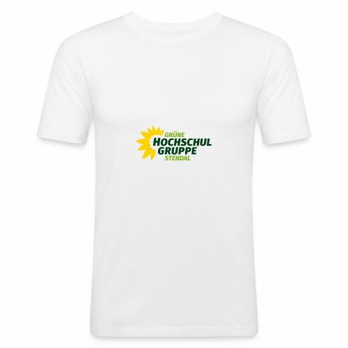 GHG Stendal Logo bunt - Männer Slim Fit T-Shirt