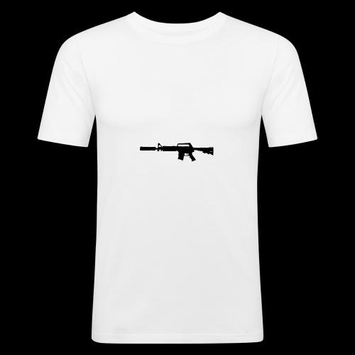 VanityDesigns Black M4 - Herre Slim Fit T-Shirt