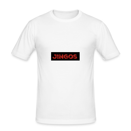 Jingos tee - Black on white - Herre Slim Fit T-Shirt