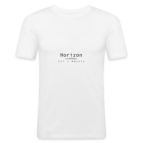 Black Horizon Logo - Men's Slim Fit T-Shirt