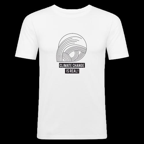 Climate change is real! - Männer Slim Fit T-Shirt