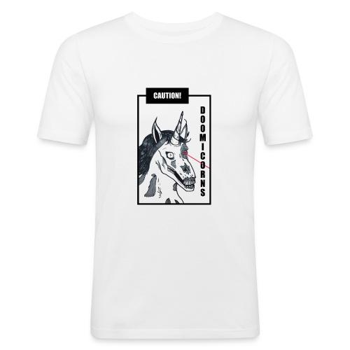 CAUTION! DOOMICORNS - Männer Slim Fit T-Shirt
