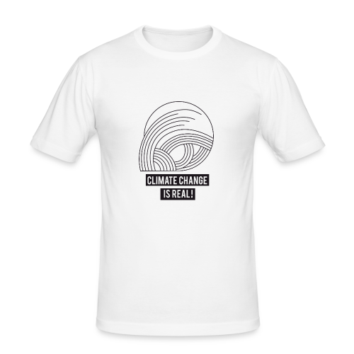 Climate change is real! - Männer Slim Fit T-Shirt
