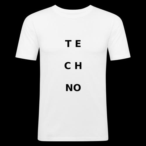 te ch no - Männer Slim Fit T-Shirt