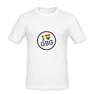 I Love Gbg - tygkasse - Slim Fit T-shirt herr