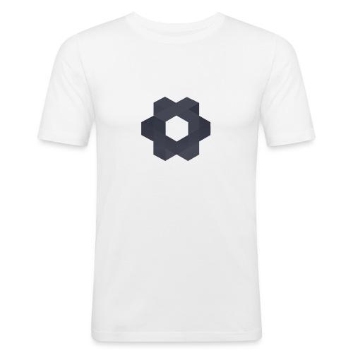 Minoko Weiß - Männer Slim Fit T-Shirt