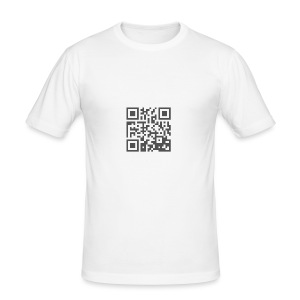 Plain QR Aesthetic Design - Men's Slim Fit T-Shirt