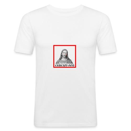 Crucify God | Sad Jesus - Miesten tyköistuva t-paita
