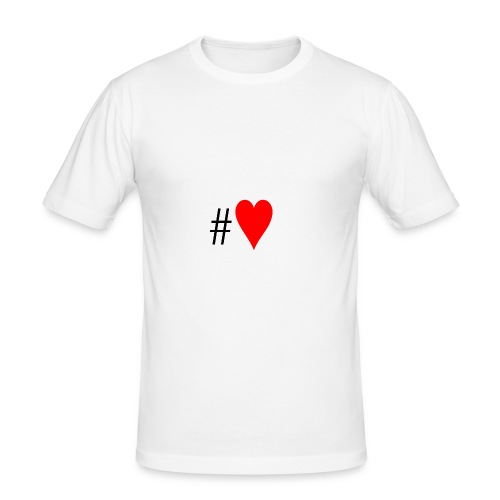 Hashtag Heart - Men's Slim Fit T-Shirt