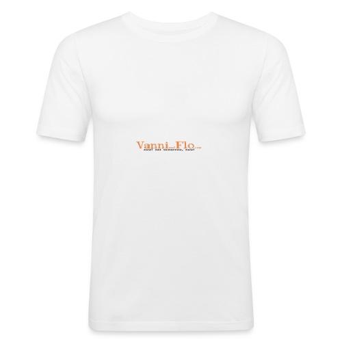 Logo-Schrift-Zug - Männer Slim Fit T-Shirt