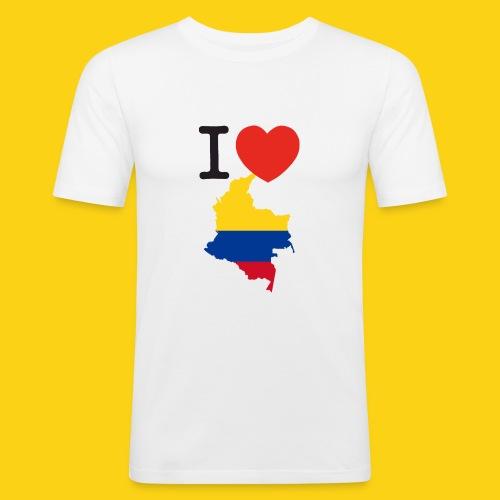 I love Colombia - Maglietta aderente da uomo