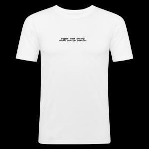 AP Slogan - Männer Slim Fit T-Shirt