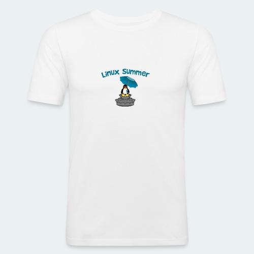 linux summer - Maglietta aderente da uomo