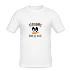 What The Duck Dark Text - Men's Slim Fit T-Shirt