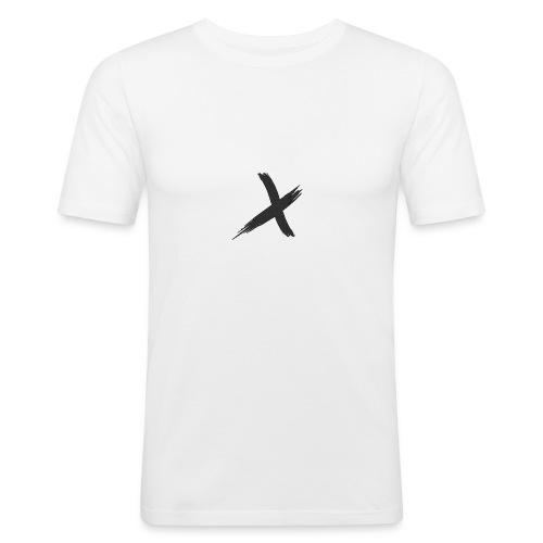 T-shirt X Logo Schwarz - Männer Slim Fit T-Shirt