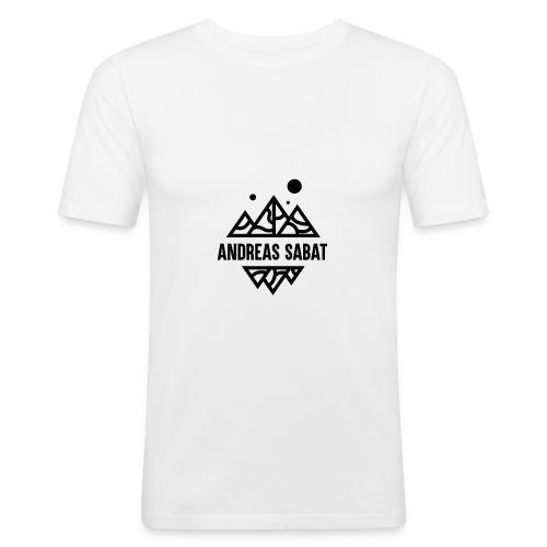 sabat logo black - Herre Slim Fit T-Shirt