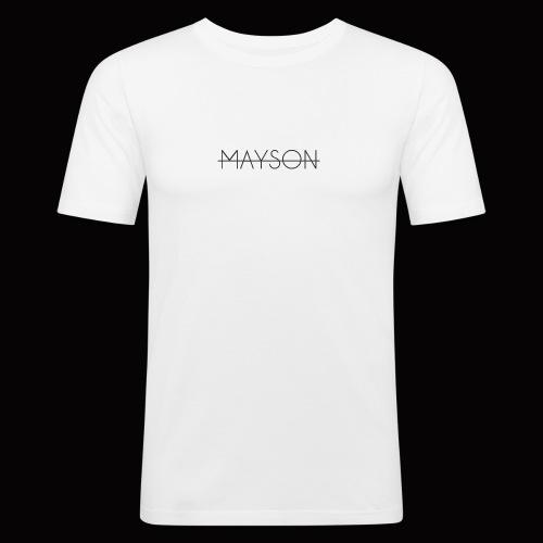 Mayson Schriftzug schwarz - Männer Slim Fit T-Shirt