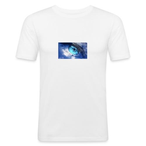 Der blau auge lets s player - Männer Slim Fit T-Shirt