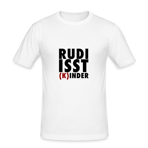 Rudi isst (K)inder - Männer Slim Fit T-Shirt