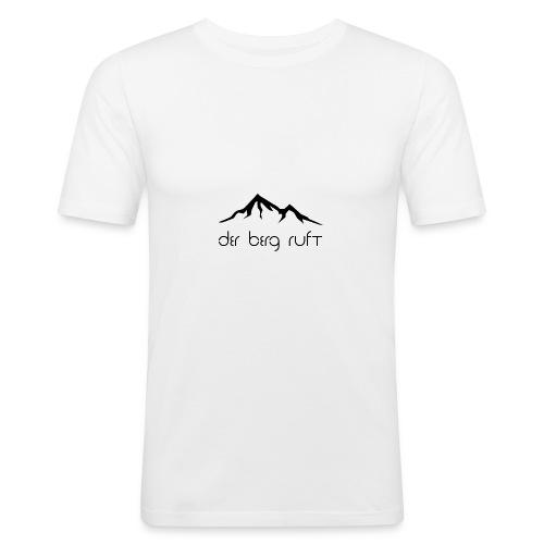 Der Berg ruft schwarz - Männer Slim Fit T-Shirt