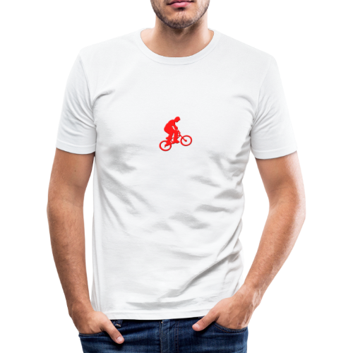 Red BMX Rider - Men's Slim Fit T-Shirt