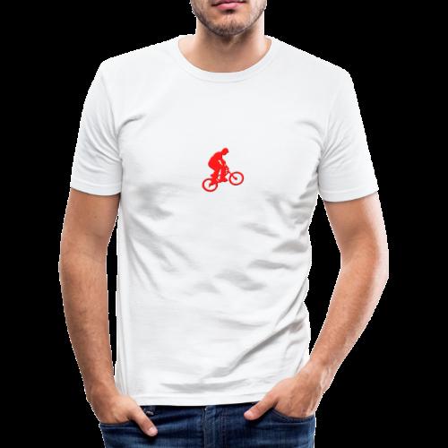 Red BMX Rider - Men's Slim Fit T-Shirt