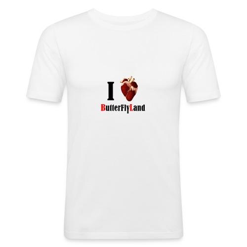 I love Butterflyland - T-shirt près du corps Homme