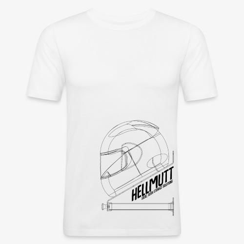 HellMutt Wireframe Side - Men's Slim Fit T-Shirt