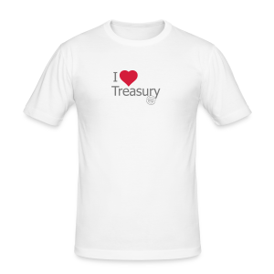 I LOVE TREASURY - Men's Slim Fit T-Shirt