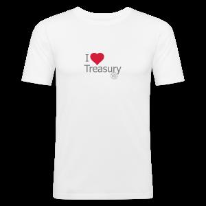 I LOVE TREASURY - Men's Slim Fit T-Shirt