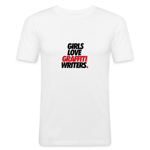 Graffiti-schriftzug - Männer Slim Fit T-Shirt