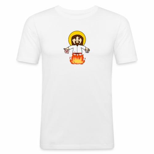 GesùOnFire - Maglietta aderente da uomo