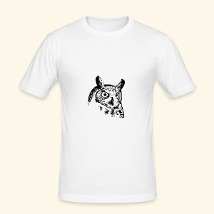 Owl - Männer Slim Fit T-Shirt