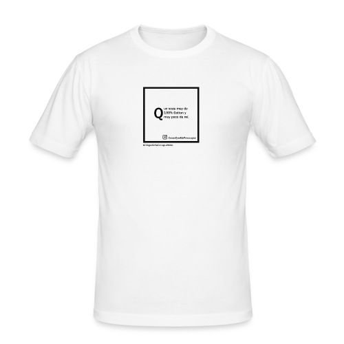 100 cotton - Camiseta ajustada hombre