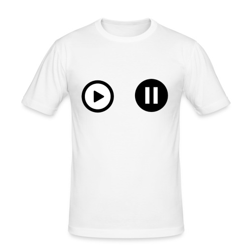 pauze and play - slim fit T-shirt