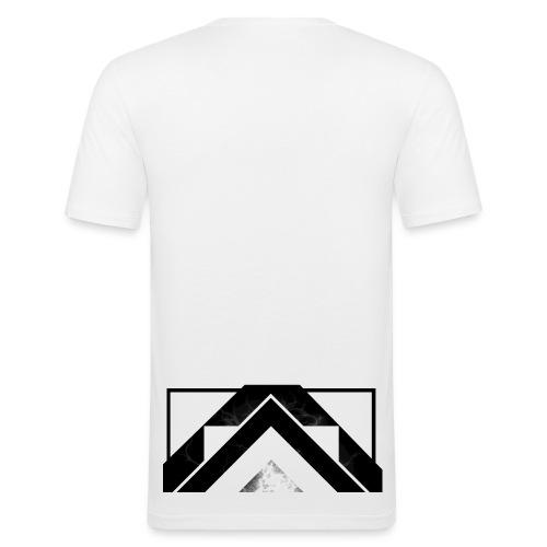 Half White Mist - Men's Slim Fit T-Shirt