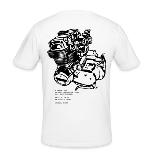 CB 750 Motorrad Motorblock - Männer Slim Fit T-Shirt
