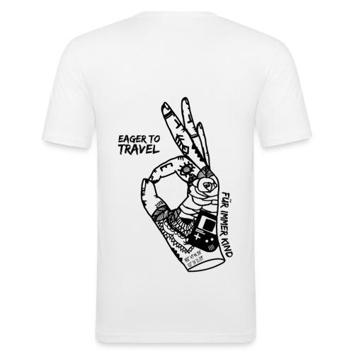 Eager To Travel - Für immer Kind - Weiß - Männer Slim Fit T-Shirt