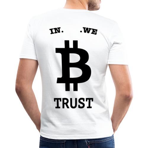 BITCOIN langwerpig - slim fit T-shirt
