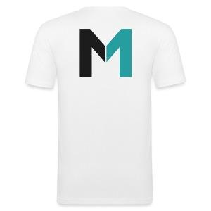 Logo M - Männer Slim Fit T-Shirt
