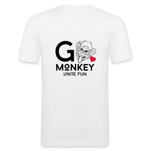 GO MONKEY - Unite fun - Slim Fit T-skjorte for menn