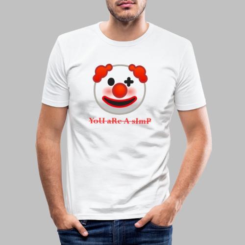 Clown Emoji - Mannen slim fit T-shirt