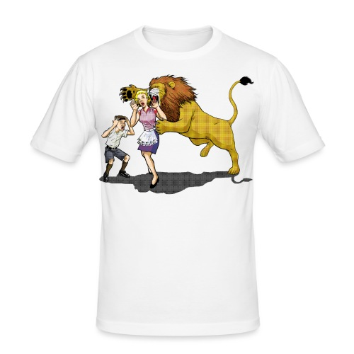 LION ATTACK! - Men's Slim Fit T-Shirt